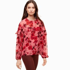 Aritzia Wilfred Adele Floral Blouse